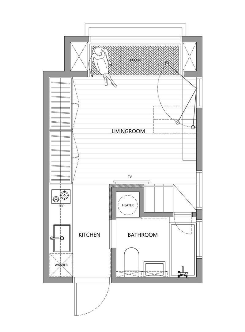 Планировка студии дизайн, идея, квартира, комната, планировка, пространство, студия