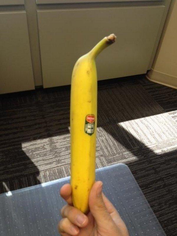 2. Слишком прямой банан в мире, еда, овощи, подборка, прикол, фрукты