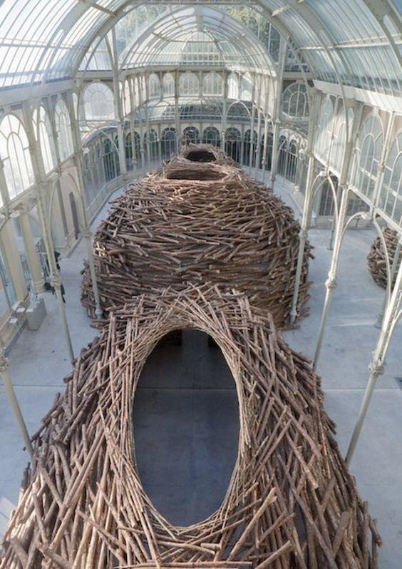 Энди Гоуслворти - природа Скульптуры, гигантизм, инсталляции, искусство, невероятное, удивительное