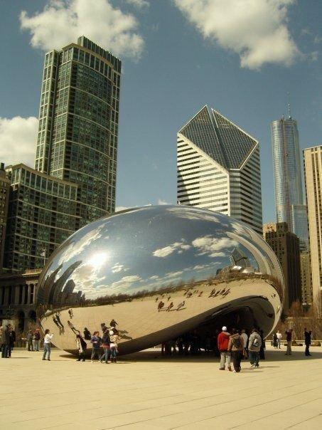 """Его знаменитый """"Боб"""" в Чикаго Скульптуры, гигантизм, инсталляции, искусство, невероятное, удивительное"""
