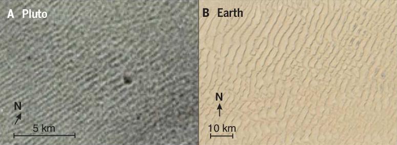 Загадочные полосы на Плутоне оказались дюнами из метанового песка астрономия, космос, наука, плутон