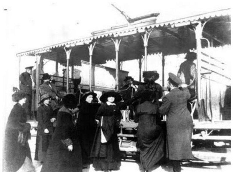 Севастопольский трамвай. 1910 г. автобус, автомир, железная дорога, интересное, история, крым, трамвай, троллейбус