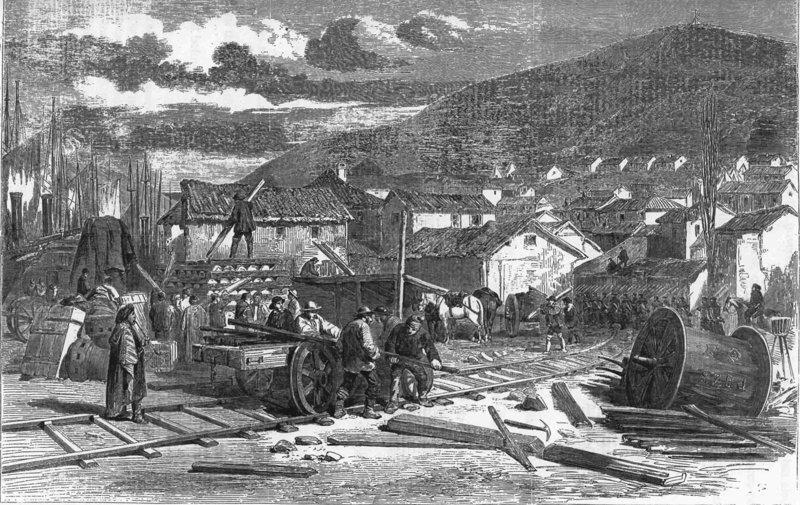 Железная дорога. Первую железную дорогу в Крыму построили англичане автобус, автомир, железная дорога, интересное, история, крым, трамвай, троллейбус