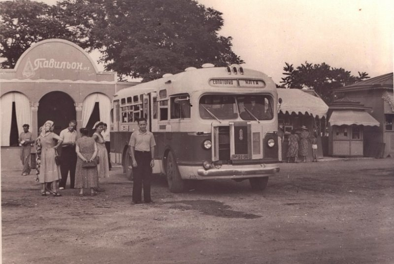 ЗиС‑155 Евпатория – Ялта, 1960‑е автобус, автомир, железная дорога, интересное, история, крым, трамвай, троллейбус