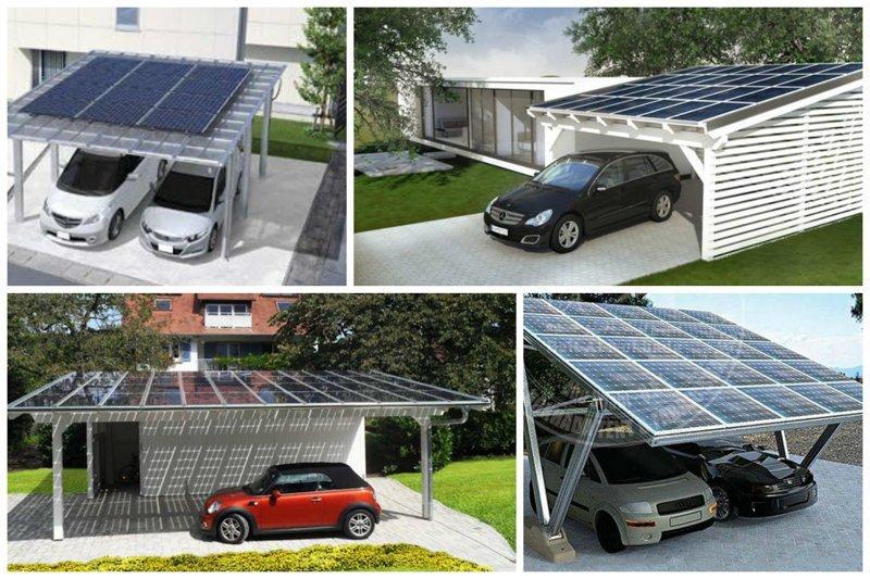 Навесы с солнечными батареями убивают двух зайцев - и машина прикрыта и свет есть Фабрика идей, автомир, гаражи. навесы, решения