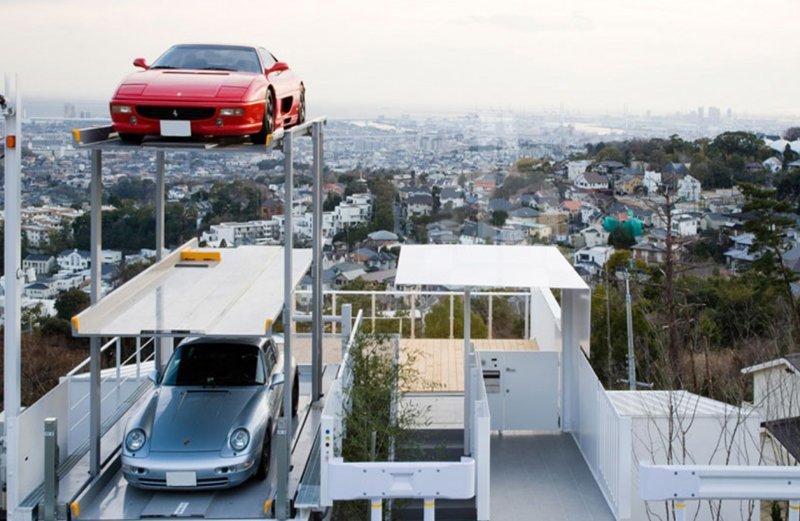 3-уровневый гараж в Токио Фабрика идей, автомир, гаражи. навесы, решения