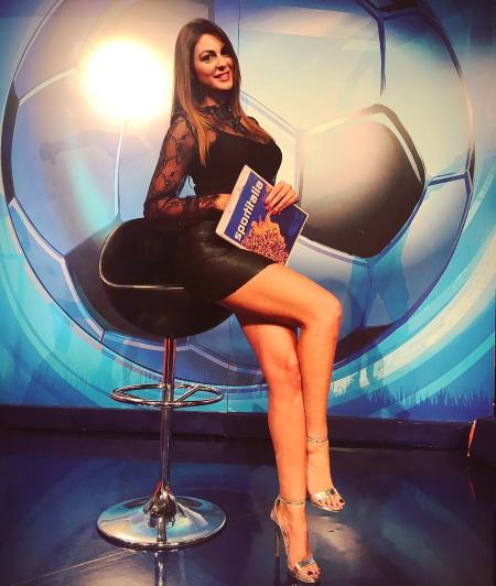 7. Джоланда Ди Ренцо из Италии работает на спортивном канале ведущие, ведущие новостей, девушки, красиво