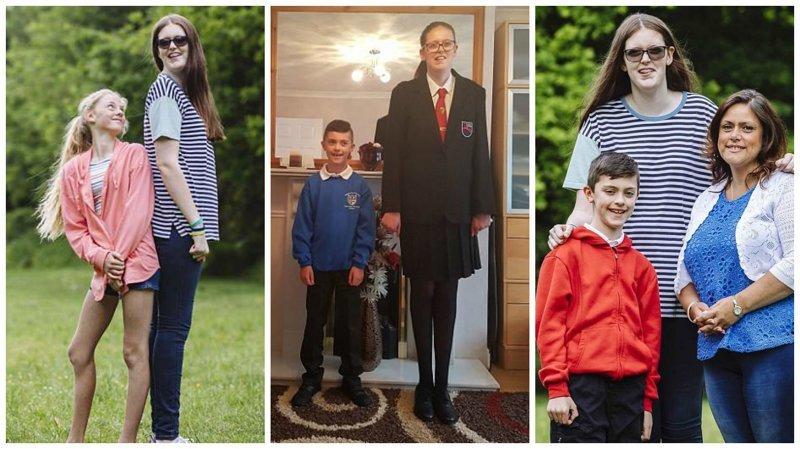 Новый рекорд Гиннесса: самая высокая девочка в мире Редкое заболевание, аномалия, великобритания, девочка, рекорд гиннеcса, рекорды гиннеса мира, самая высокая, самая высокая в мире