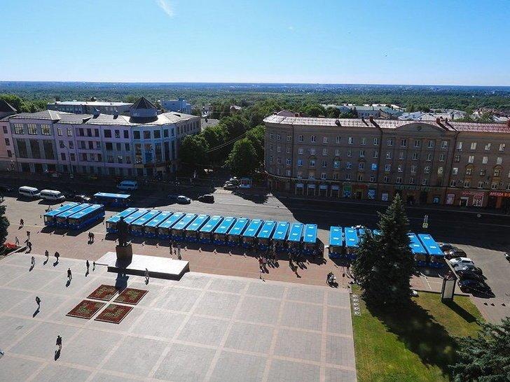 Брянск получил 25 новых автобусов ЛиАЗ Хорошие, добрые, новости, россия, фоторепортаж