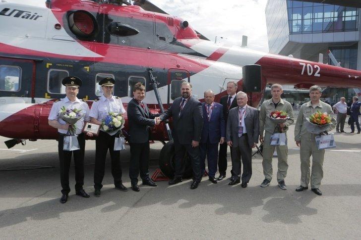 «Вертолеты России» передали «ЮТэйр» первый серийный Ми-171А Хорошие, добрые, новости, россия, фоторепортаж