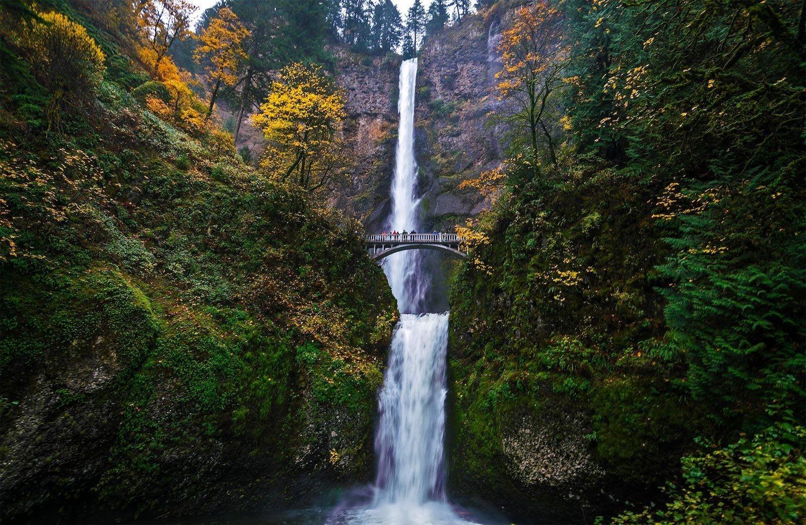 Водопад Малтнома, Орегон, США красивые места, мир, природа, путешествия, сказка