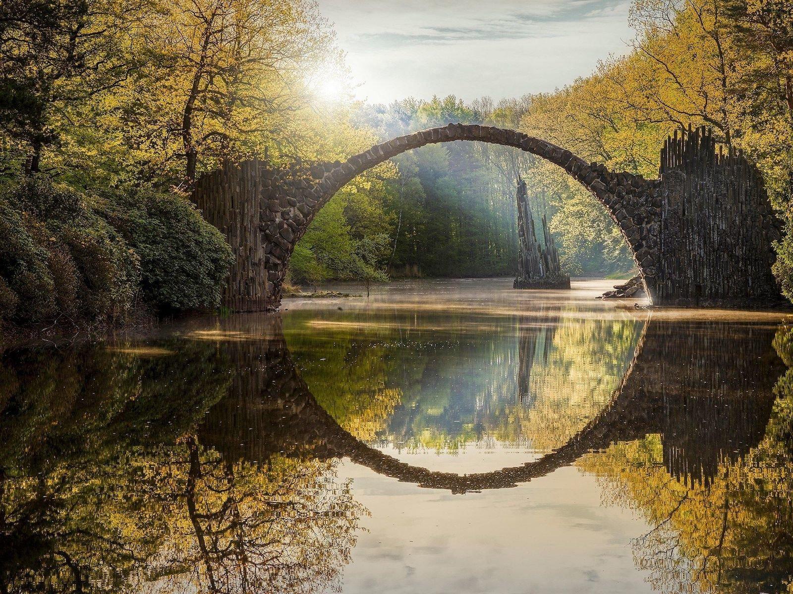Мост Ракоц, Германия красивые места, мир, природа, путешествия, сказка