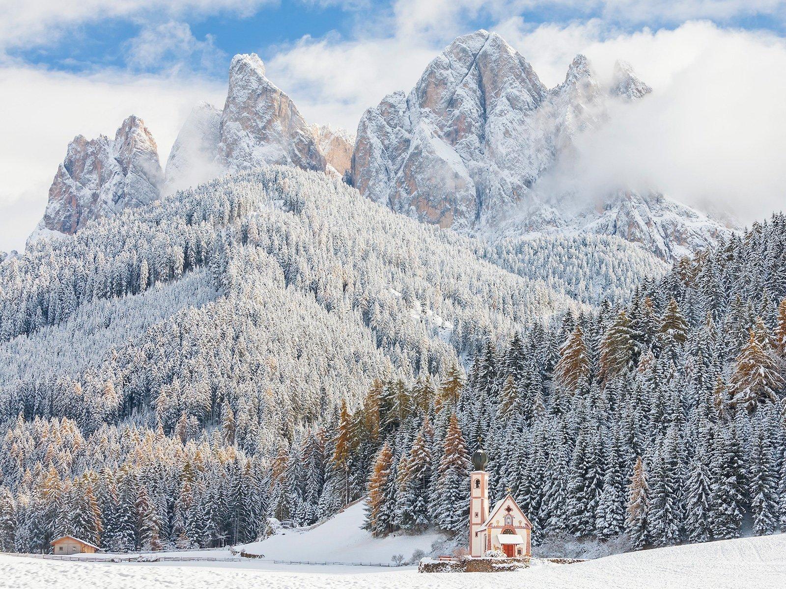 Природный парк Пуэц-Гейслер, Италия красивые места, мир, природа, путешествия, сказка