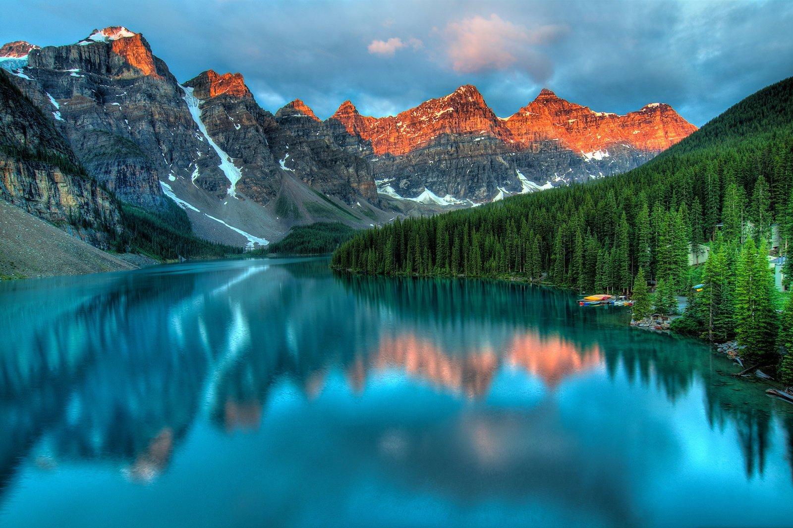 Озеро Морейн, Канада красивые места, мир, природа, путешествия, сказка