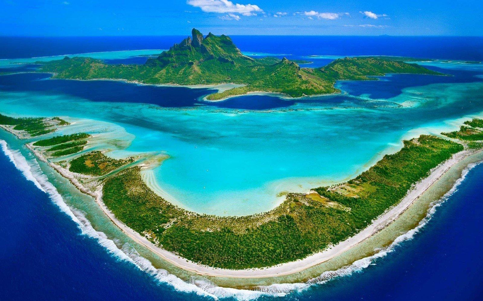 Бора-Бора, Французская Полинезия красивые места, мир, природа, путешествия, сказка