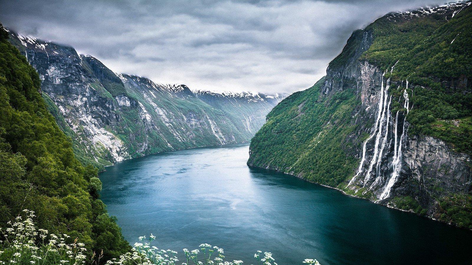 Гейрангер-фьорд, Норвегия красивые места, мир, природа, путешествия, сказка