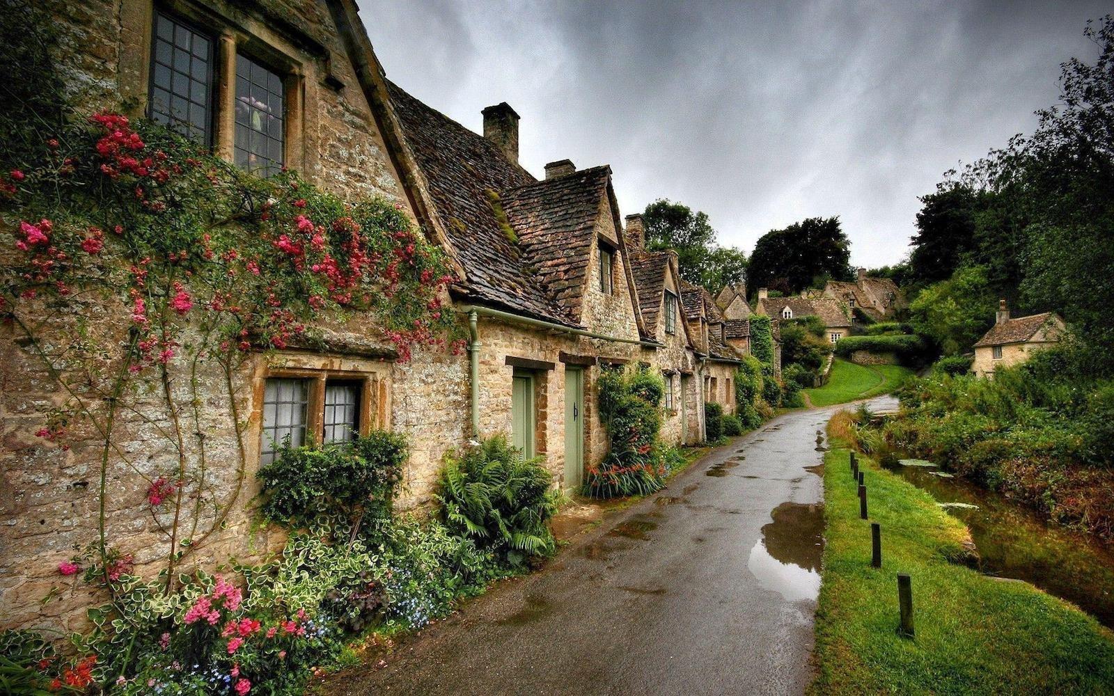 Бибури, Англия красивые места, мир, природа, путешествия, сказка