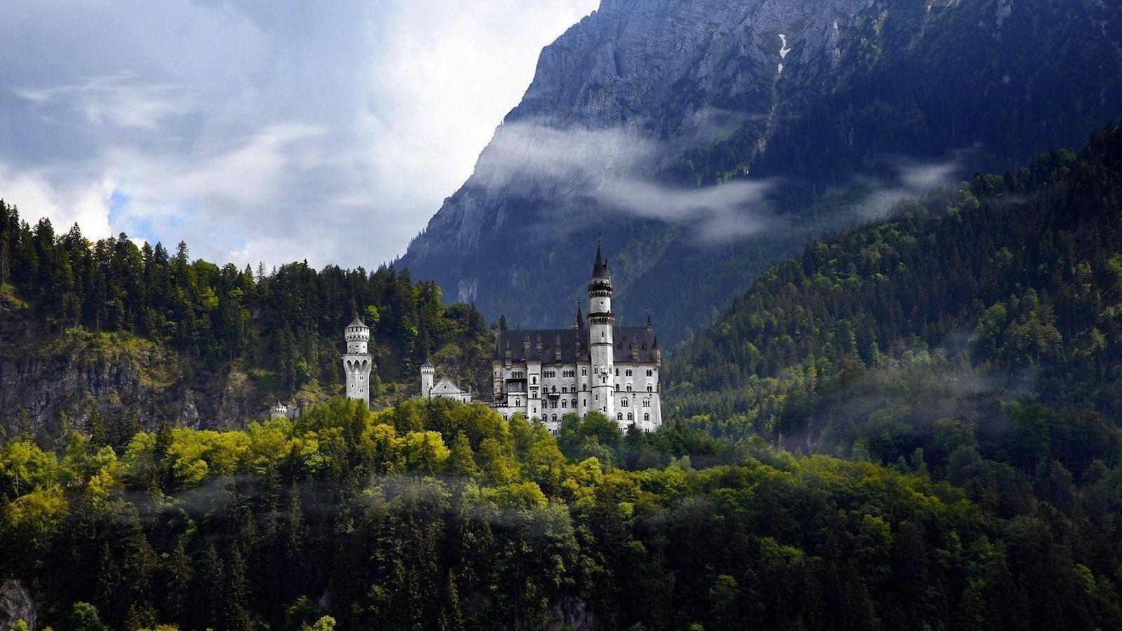 Замок Нойшванштайн, Германия красивые места, мир, природа, путешествия, сказка