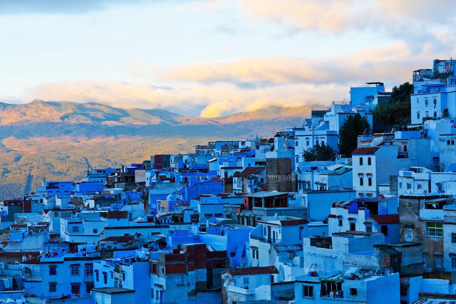 Голубой город Шефшауен, Марокко красивые места, мир, природа, путешествия, сказка
