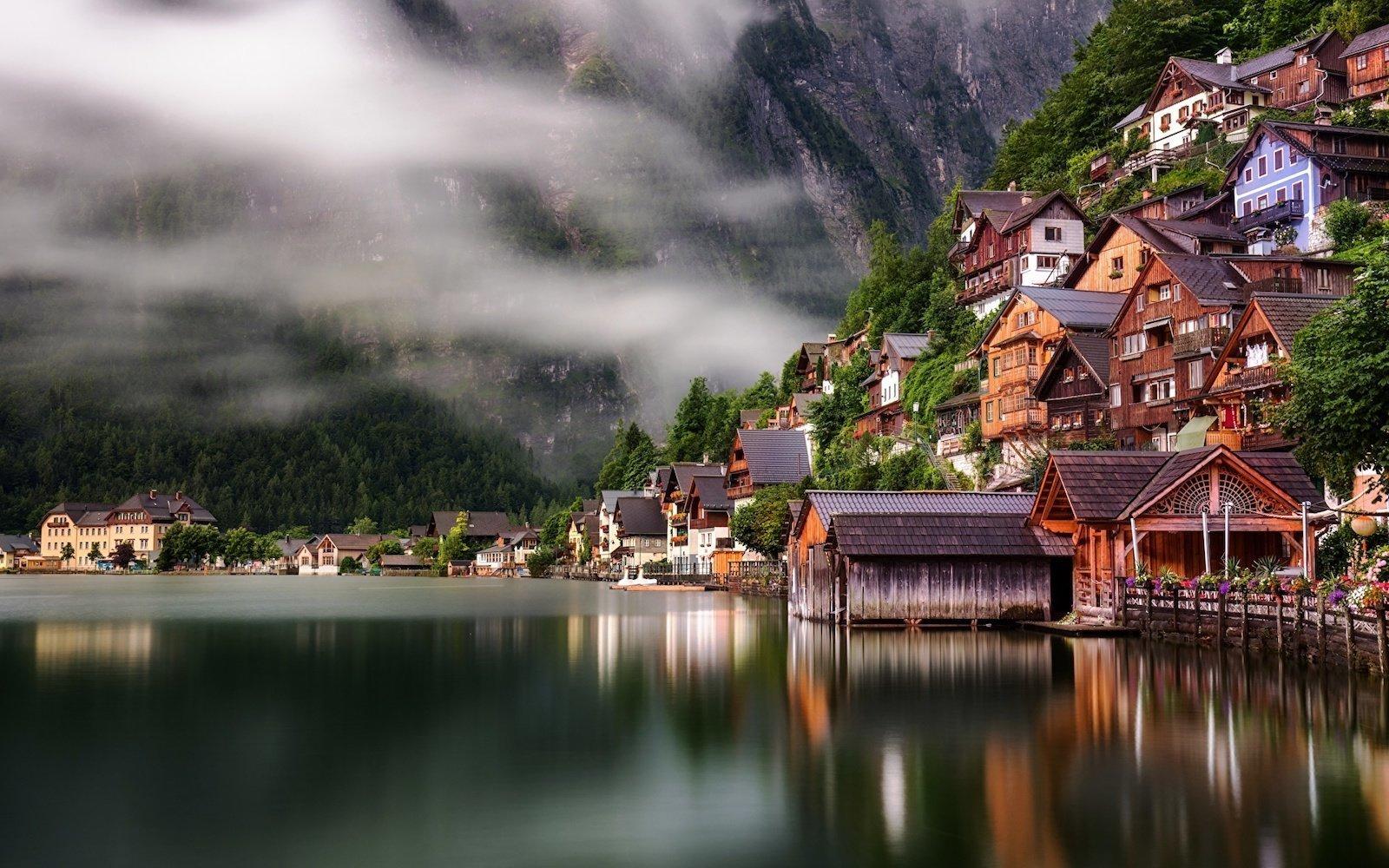 Гальштат, Австрия красивые места, мир, природа, путешествия, сказка