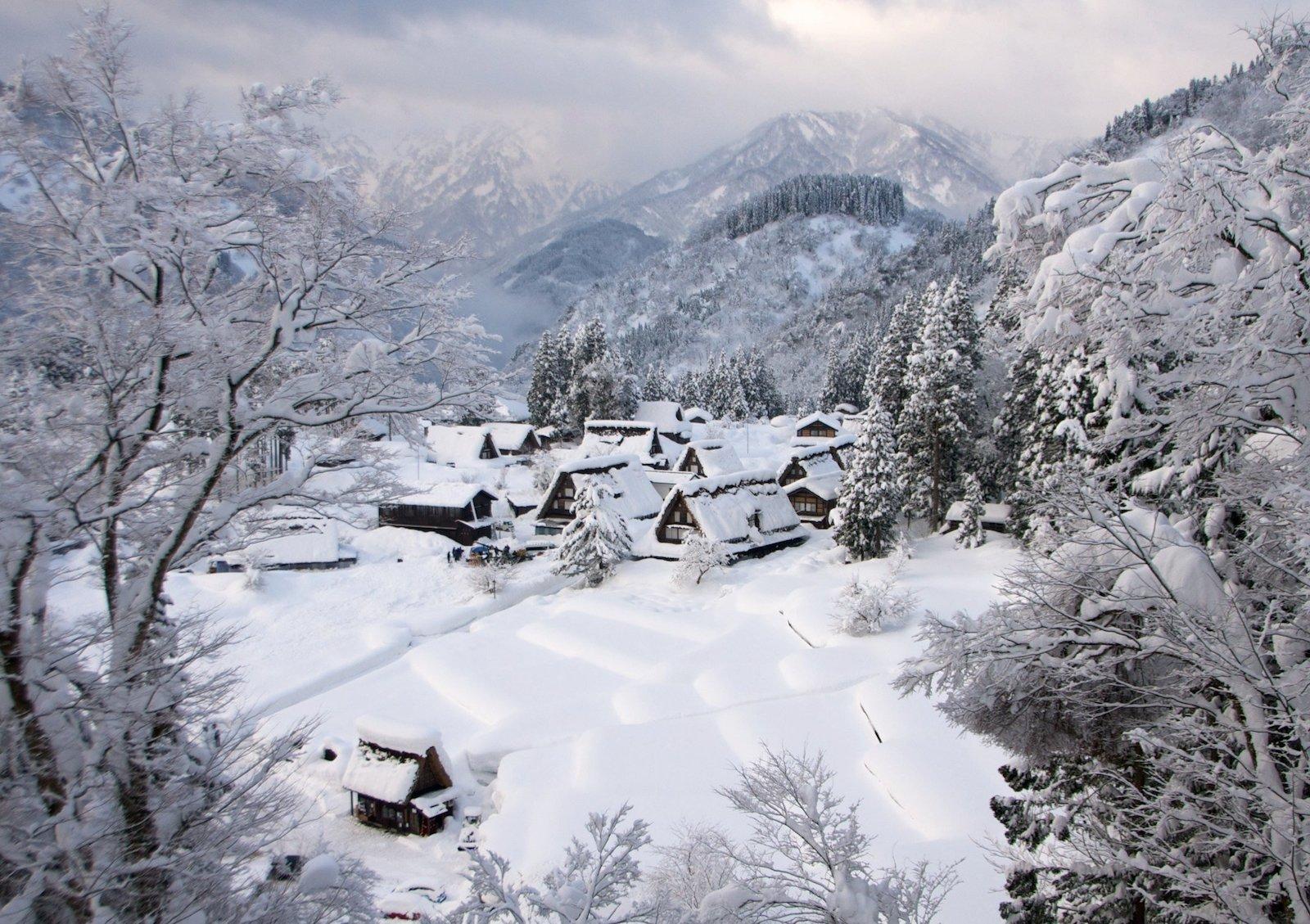 Гокаяма, Япония красивые места, мир, природа, путешествия, сказка