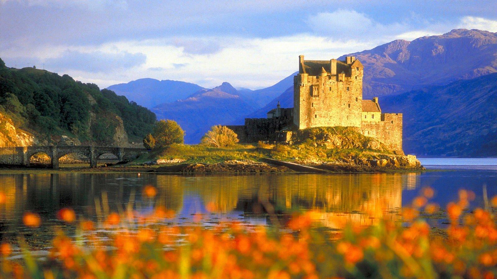Замок Эйлен-Донан, Шотландия красивые места, мир, природа, путешествия, сказка