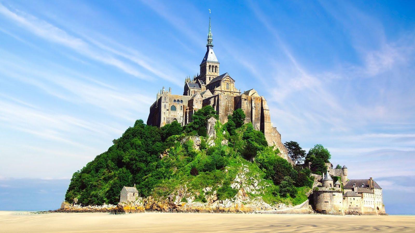 Мон-Сен-Мишель, Франция красивые места, мир, природа, путешествия, сказка