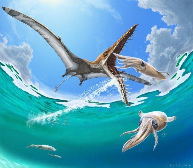 Трагедия Юрского периода. Рамфоринх охотился за рыбой, а рыба охотилась на него животные, интересно, окаменелости, палеонтология