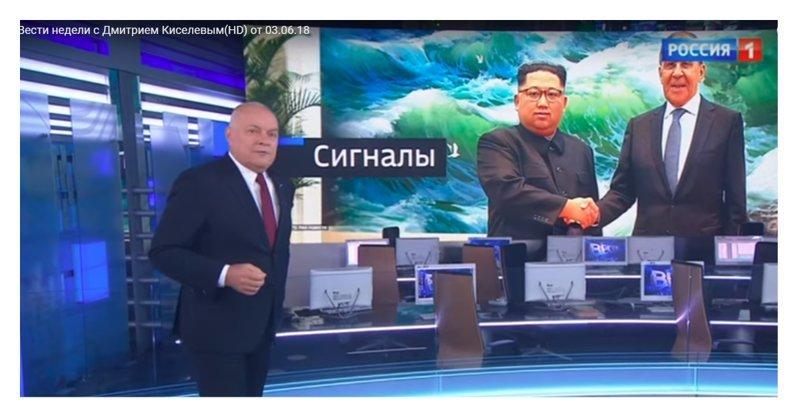 В России улыбаются все, даже Ким Чен Ын: на федеральном канале отфотошопили фото корейца ynews, Вести недели, ким чен ын, киселев, телеканал Россия-1