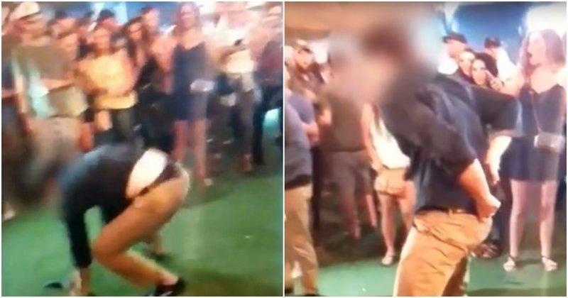 Агент ФБР случайно подстрелил посетителя ночного клуба во время танца видео, выстрел, инцидент, ночной клуб, сша, фбр
