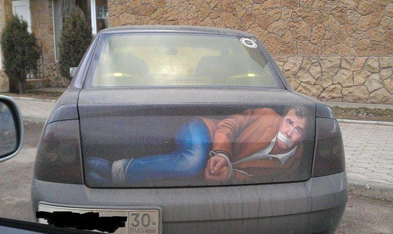 11. Опасные ребята автомобильные приколы, перекрасил тачку, понты, рисунок на авто, фото, юмор