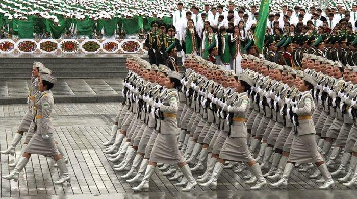 Женщины в пилотках, Туркменистан Вооружённые силы, армии, девушки, девушки в армии, пилотка, пилотки, раритет, современные пилотки