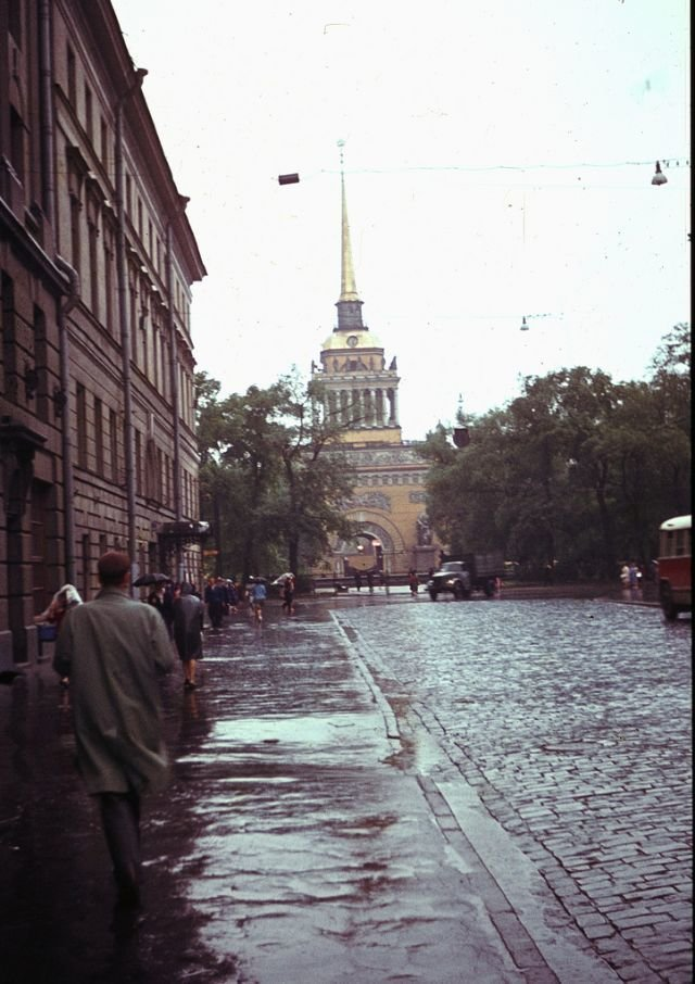 Вид на Адмиралтейство 60-е, СССР, ленинград, ностальгия, советский союз