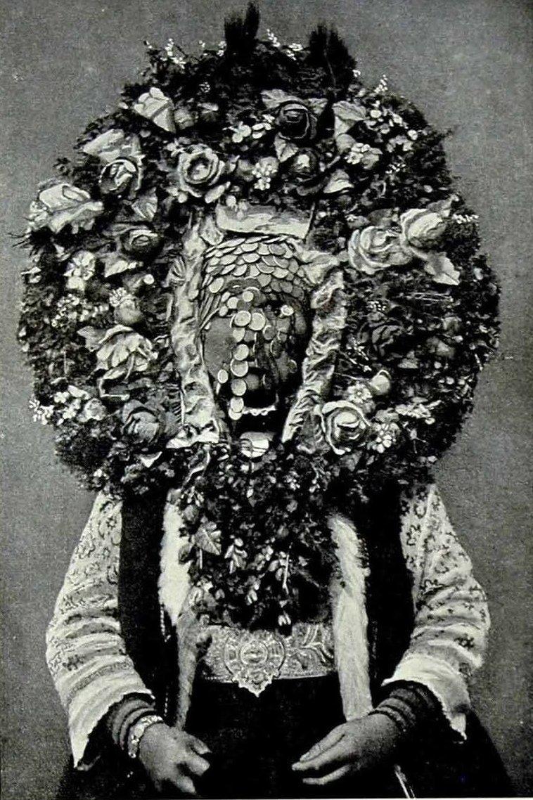 Болгарская флористическая свадебная маска исторические фото, история, мода, прическа, свадьба, факты