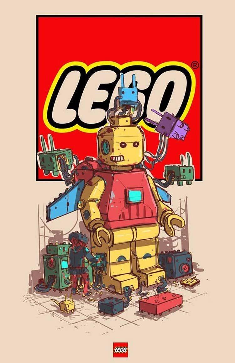 11. Lego бренды, известные бренды, креатив, рисунок, фантазия, художник, человекоподобный
