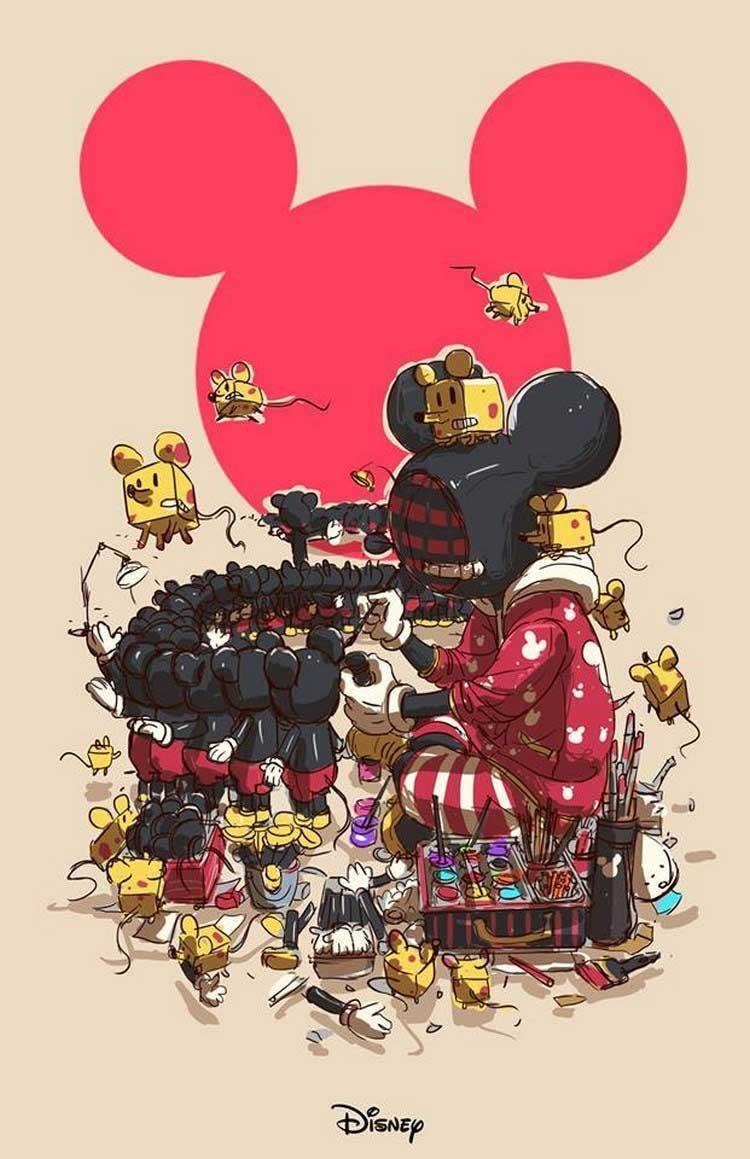 16. Disney бренды, известные бренды, креатив, рисунок, фантазия, художник, человекоподобный