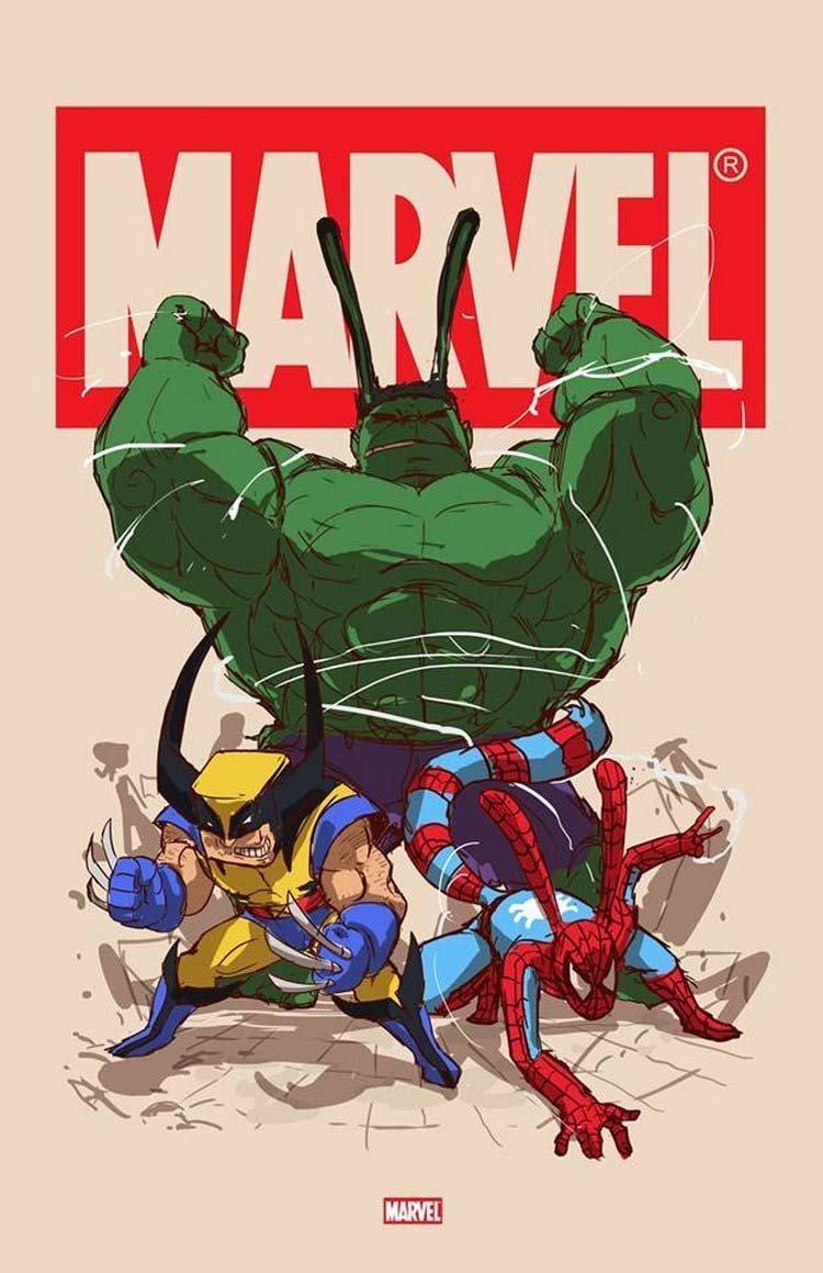 12. Marvel бренды, известные бренды, креатив, рисунок, фантазия, художник, человекоподобный