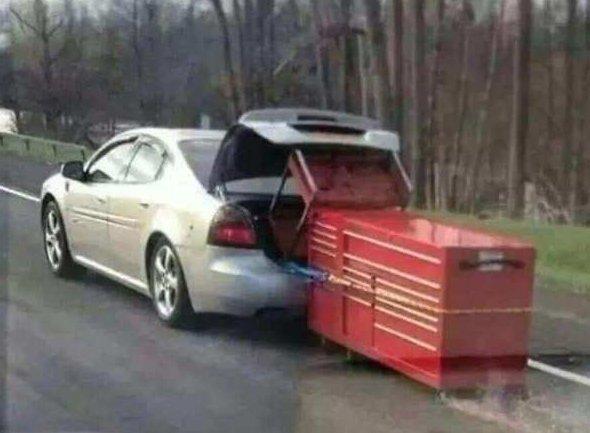 Когда нет денег на грузовик автоприблуды, прикол, юмор