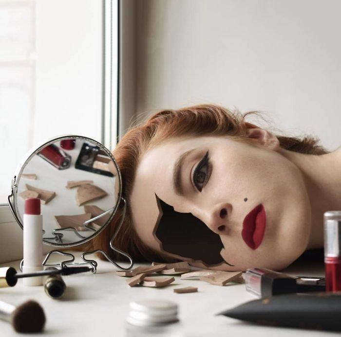 1. автопортреты, композиция, россиянка, талантливая, фотограф, фотоманипуляции, фотомонтаж, фотошоп