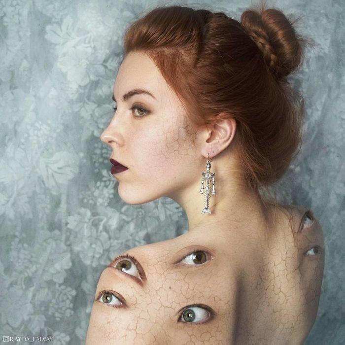 34. автопортреты, композиция, россиянка, талантливая, фотограф, фотоманипуляции, фотомонтаж, фотошоп