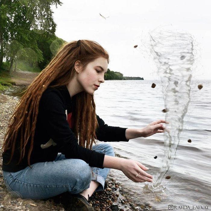 25. автопортреты, композиция, россиянка, талантливая, фотограф, фотоманипуляции, фотомонтаж, фотошоп