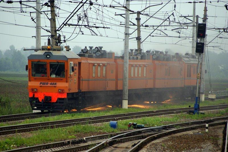 РШП – Рельсошлифовальные поезда. поезда, рельсы, шлифуют