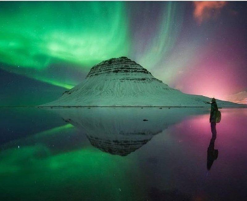 На первом месте находится прекрасная страна - Исландия. Именно оттуда фотографии набирают больше всего лайков. Instagram, ynews, интересное, исландия, лайки, путешествия, фото
