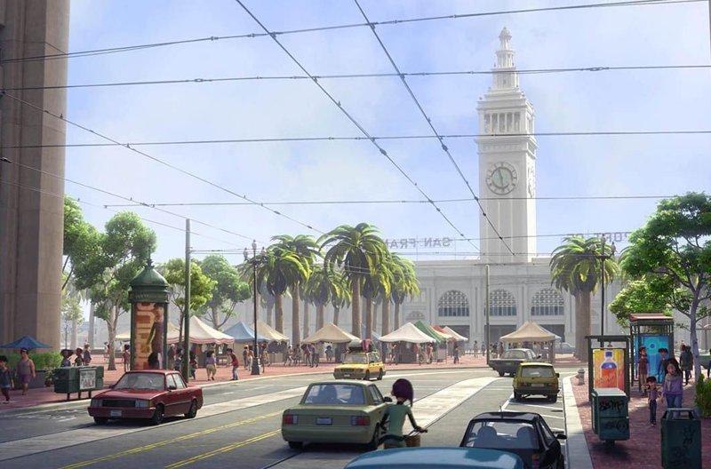Ферри-Билдинг, «Головоломка» / Он же в реальной жизни, Сан-Франциско в мире, достопримечательности, интересно, мультфильм