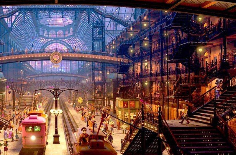 Центральная станция в «Тайне Коко» / Почтовый дворец в Мехико в мире, достопримечательности, интересно, мультфильм