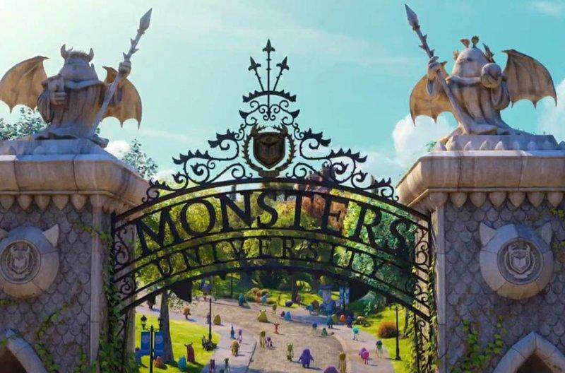 Ворота «Университета монстров» / Ворота Университета Беркли, Калифорния в мире, достопримечательности, интересно, мультфильм