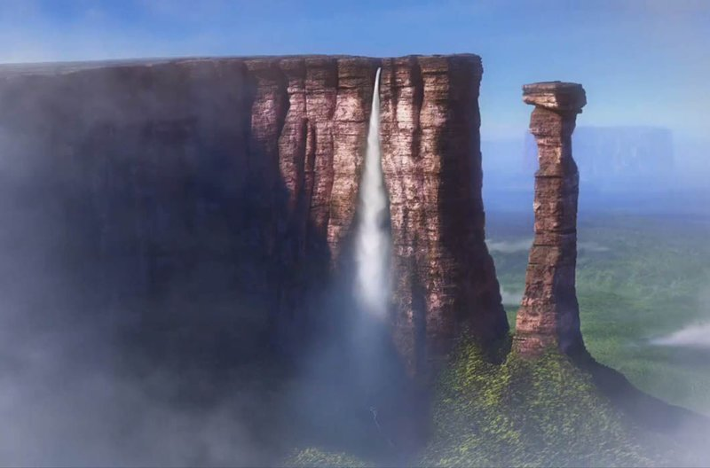 Райский водопад, «Вверх» / Ангельский водопад, Венесуэла в мире, достопримечательности, интересно, мультфильм