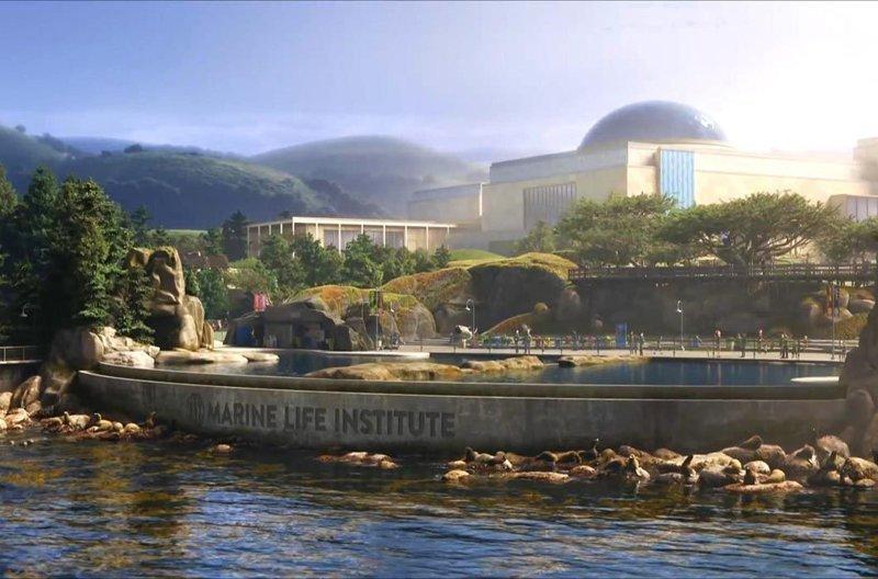 Институт морской жизни, «В поисках Дори» / Океанариум Монтерей-Бэй, Калифорния в мире, достопримечательности, интересно, мультфильм