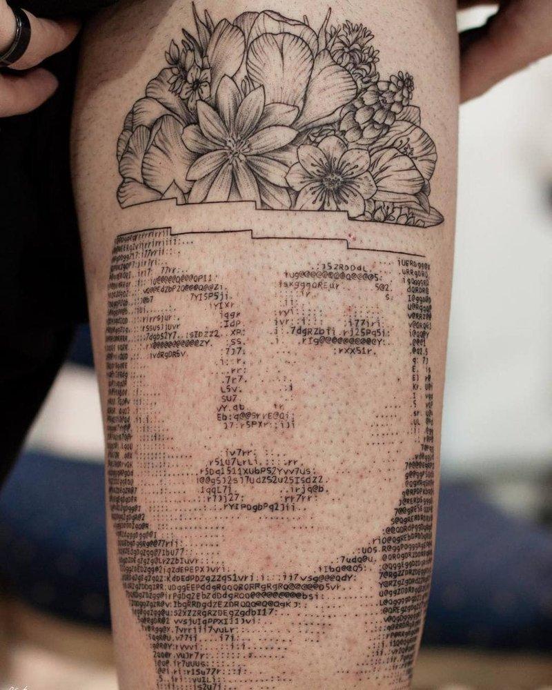 Парень создаёт объёмные татуировки, используя компьютерный код Анреас Вронтис, искусство, код, рисунок, тату, татуировка