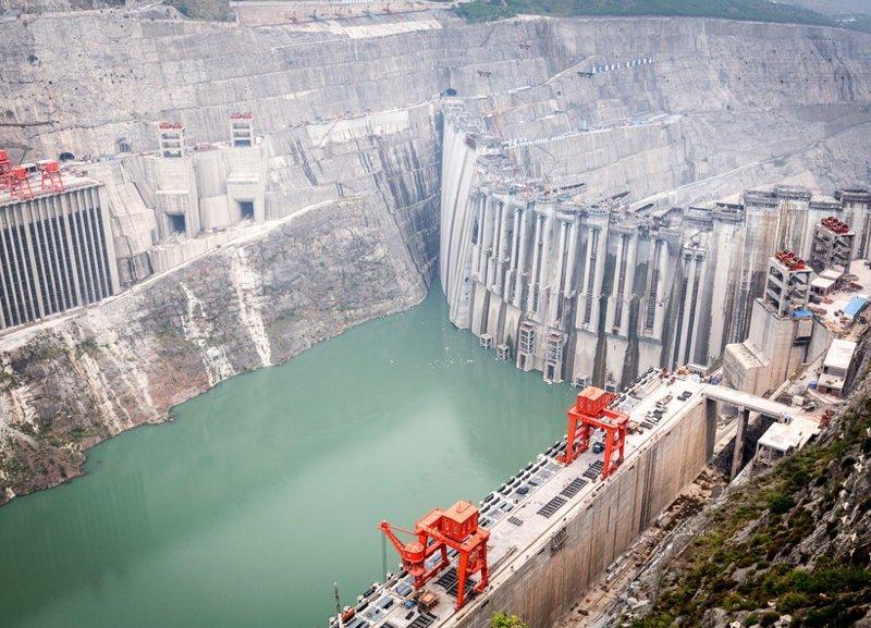 Китайский гигант-самая высокая плотина гигант, китай, плотина